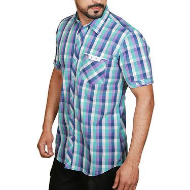 Sparrow Clothings Cotton Checks Shirt_wjc21 - Blue