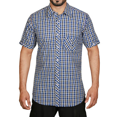 Sparrow Clothings Cotton Checks Shirt_wjc24 - Blue