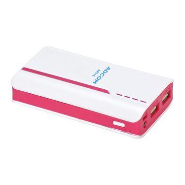 Adcom AP016 8000mAh Power Bank - White & Pink