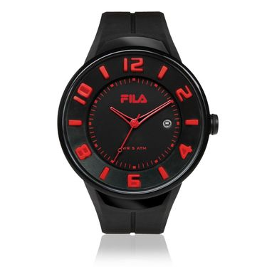 Fila Analog Round Dial Watch_38030003 - Black & Red