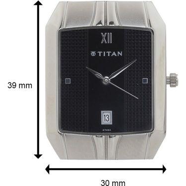 Titan Analog Rectangular Dial Watch_9264sm02 - Silver