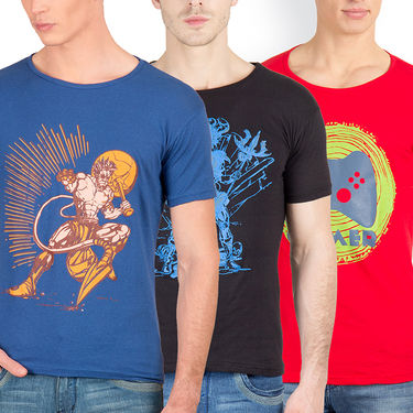 Pack of 3 Incynk Cotton T Shirts_Mhtc449