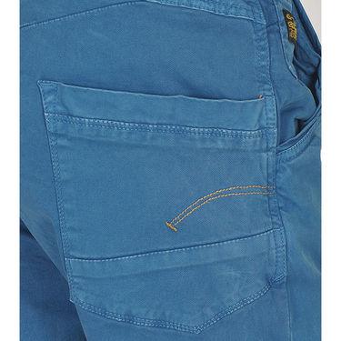 Branded Cotton Chinos_Gsblch - Blue