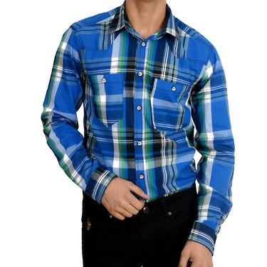 Branded Cotton Shirt_Jjblch - Blue Check
