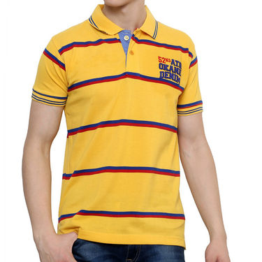 Okane Half Sleeves T shirt_Ts45294 - Yellow