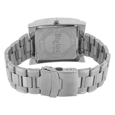 Stylox Square Dial Analog Watch_whstx216 - Silver