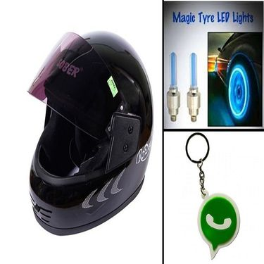 Combo of Bike Helmet + wheel light-CD 25615-1