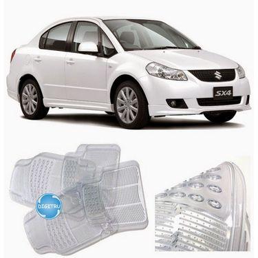 Digitru - Car Transparent Rubber Foot Mats for SX4 (White) _ DG20150620