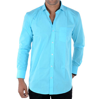 Bendiesel Plain Cotton Shirt_Bdf046 - Blue