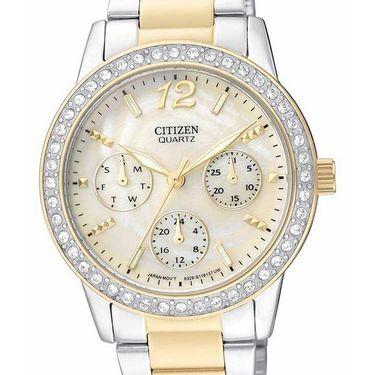 Citizen Analog Watch_ ed809452n - Silver & Golden