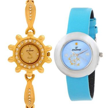 Pack of 2 Dezine Wrist Watch_combo17