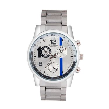 Exotica Fashions Analog Round Dial Watches_E06st1 - Silver