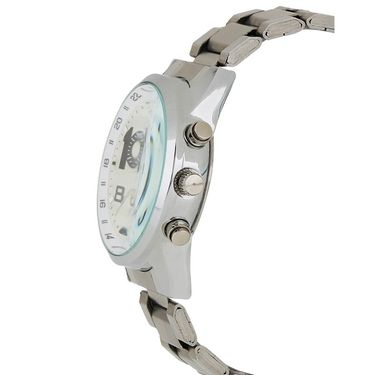 Exotica Fashions Analog Round Dial Watches_E06st3 - Silver
