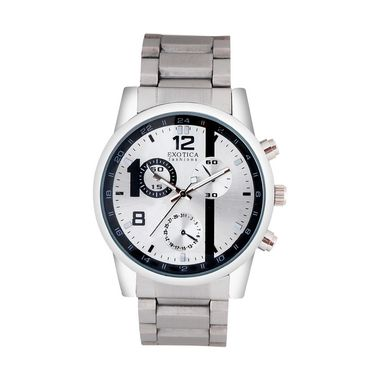 Exotica Fashions Analog Round Dial Watches_E06st5 - Silver