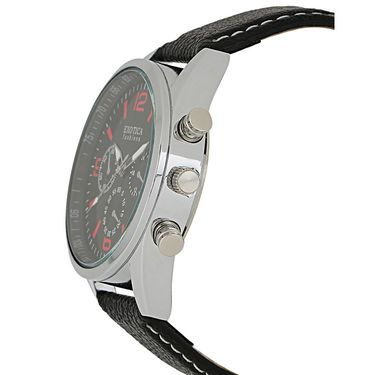 Exotica Fashions Analog Round Dial Watches_E15ls12 - Black