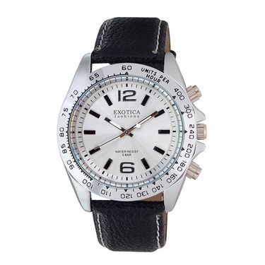 Exotica Fashions Analog Round Dial Watches_E02ls36 - Silver