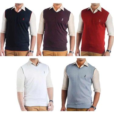 Pack of 5 Sleeveless Sweaters For Men_Srihs06