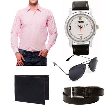 Combo of Premium Casual Shirt + Watches + Belt + Sunglasses + Wallets_Fs918
