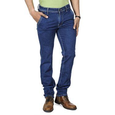 Blended Cotton Slim Fit Jeans_502 - Blue
