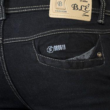 Blended Cotton Slim Fit Jeans_503 - Black