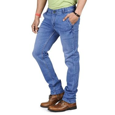 Pack of 2 Blended Cotton Slim Fit Jeans_5031011 - Light Blue & Black