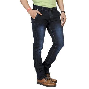 Pack of 2 Blended Cotton Slim Fit Jeans_5031061 - Black & Blue