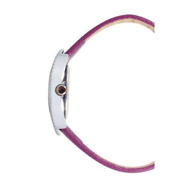 Exotica Fashions Analog Oval Dial Watch For Women_Efl9w68 - Purple