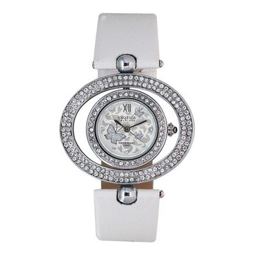 Exotica Fashions Analog Round Dial Watch For Women_Efl18w20 - White & Grey