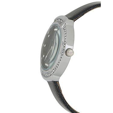 Exotica Fashions Analog Round Dial Watch For Women_Efl27w49 - Black & Silver