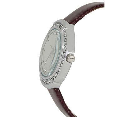 Exotica Fashions Analog Round Dial Watch For Women_Efl27w50 - White & Silver