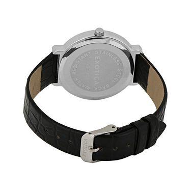 Exotica Fashions Analog Round Dial Watch For Women_Efl28w56 - Black & Silver