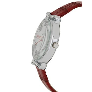 Exotica Fashions Analog Round Dial Watch For Women_Efl28w57 - White & Red