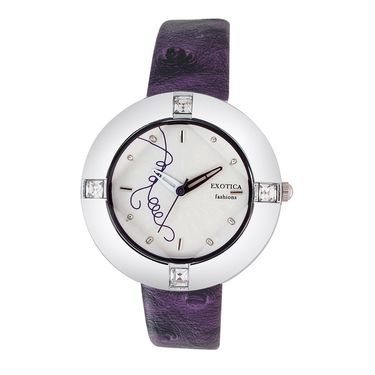 Exotica Fashions Analog Round Dial Watch For Women_Efl29w9 - White