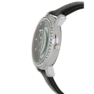 Exotica Fashions Analog Round Dial Watch For Women_Efl70w43 - Black