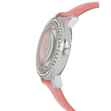 Exotica Fashions Analog Round Dial Watch For Women_Efl70w45 - Pink