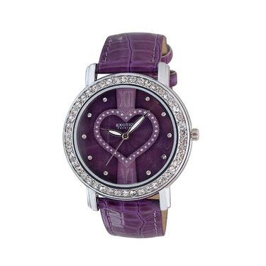 Exotica Fashions Analog Round Dial Watch For Women_Efl70w48 - Purple
