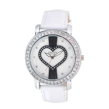 Exotica Fashions Analog Round Dial Watch For Women_Efl70w47 - White & Black