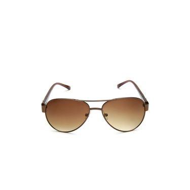 Alee Metal Oval Unisex Sunglasses_141 - Brown