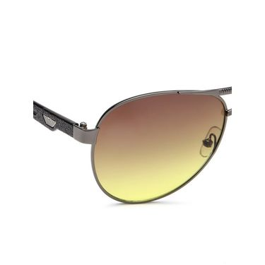 Alee Metal Oval Unisex Sunglasses_144 - Green