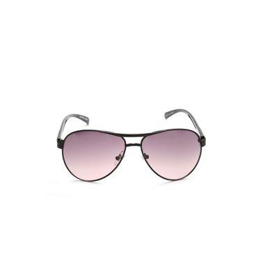 Alee Metal Oval Unisex Sunglasses_155 - Purple