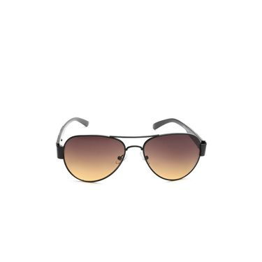 Alee Metal Oval Unisex Sunglasses_159 - Brown