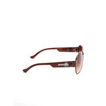 Alee Metal Oval Unisex Sunglasses_163 - Brown