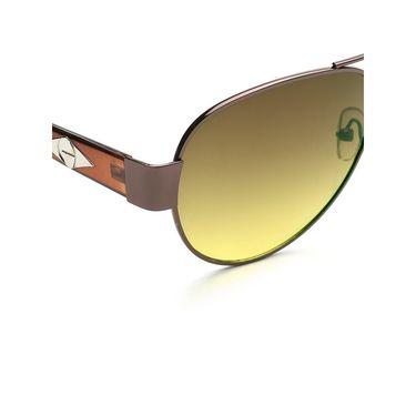Alee Metal Oval Unisex Sunglasses_170 - Green
