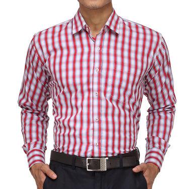 Rico Sordi Full Sleeves Checks Shirt_R007f - Red