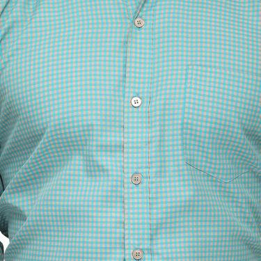 Rico Sordi Full Sleeves Checks Shirt_R011f - Sea Green