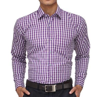 Rico Sordi Full Sleeves Checks Shirt_R012f - Purple