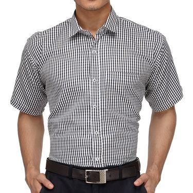 Rico Sordi Half Sleeves Checks Shirt_R010hs - Black