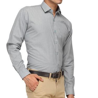 Rico Sordi Full Sleeves Plain Shirt_R015f - Grey