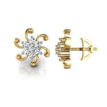 Avsar Real Gold and Swarovski Stone Kalyan Earrings_Ave001yb