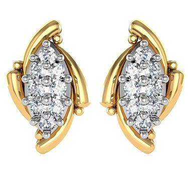 Avsar Real Gold and Swarovski Stone Tejsvi Earrings_Ave012yb
